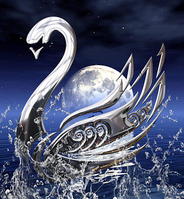 Swan Art Art Print by Marvin Blaine
