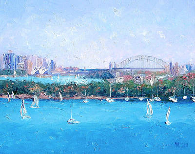 Sydney Harbour And The Opera House By Jan Matson Art Print