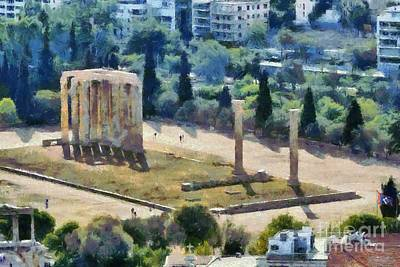 Olympian Painting - Temple Of Olympian Zeus by George Atsametakis