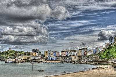 Photograph - Tenby Harbour by Steve Purnell
