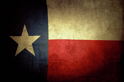 Texas Flag Art Print by Les Cunliffe