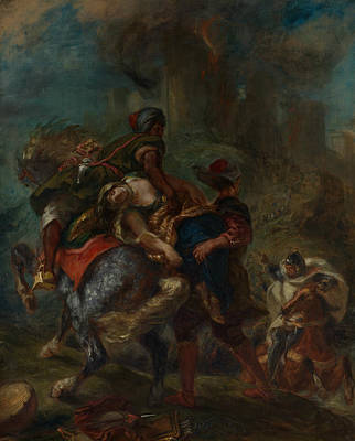 Painting - The Abduction Of Rebecca by Eugene Delacroix