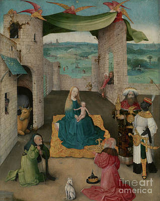 Hieronymus Bosch Painting - The Adoration Of The Magi by Hieronymus Bosch