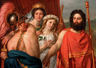 Artemis Wall Art - Painting - The Anger Of Achilles by Jacques-Louis David