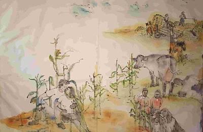 Painting - The Art Of Farming Album. by Debbi Saccomanno Chan