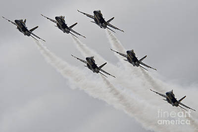 Liberty Painting - the Blue Angels by Celestial Images