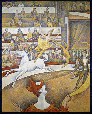 Circus Painting - The Circus by Georges Seurat