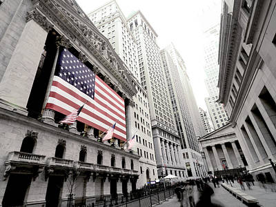 The Facade Of The New York Stock Print by Justin Guariglia