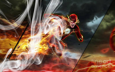 Flash Mixed Media - The Flash Collection by Marvin Blaine