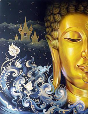 The Light Of Buddhism Art Print