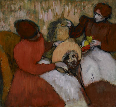 Painting - The Milliners by Edgar Degas