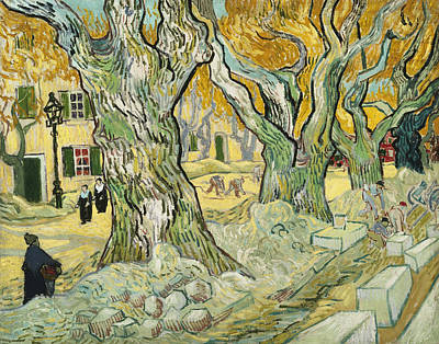 Streetscape Painting - The Road Menders by Vincent van Gogh