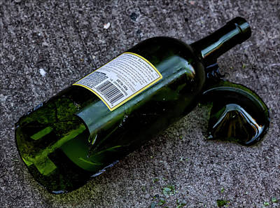 Broken Bottle Photograph - The Romance Of Alcohol by Robert Ullmann