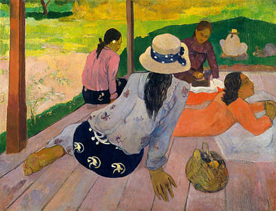 Painting - The Siesta by Paul Gauguin