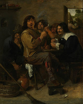 Painting - The Smokers by Adriaen Brouwer