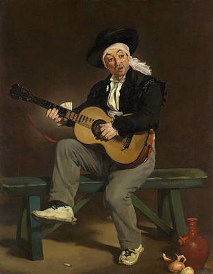 Singer Painting - The Spanish Singer by Edouard Manet