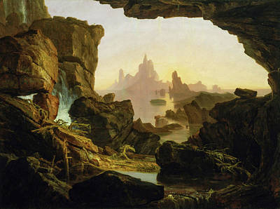 Testament Painting - The Subsiding Of The Waters Of The Deluge by Thomas Cole