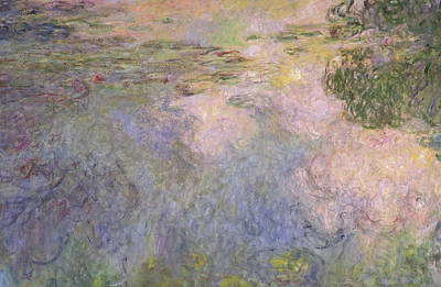 The Waterlily Pond Art Print by Claude Monet