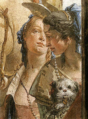 Banquet Digital Art - Tiepolo Palazzo Labia The Banquet Of Cleopatra  by Giovanni Battista Tiepolo