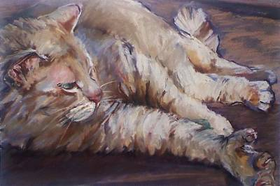 Painting - 6 Toe Stretch by Michelle Winnie