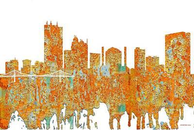 Digital Art - Toledo Ohio Skyline by Marlene Watson