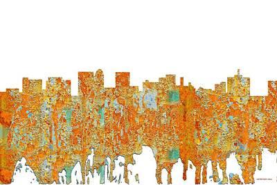 Digital Art - Topeka Kansas Skyline by Marlene Watson
