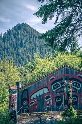 Open Impressionism California Desert - Totems Art And Carvings At Saxman Village In Ketchikan Alaska by Alex Grichenko