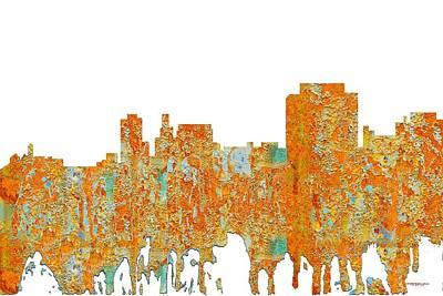 Digital Art - Trenton New Jersey Skyline by Marlene Watson