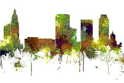 Digital Art - Tulsa Oklahoma Skyline by Marlene Watson
