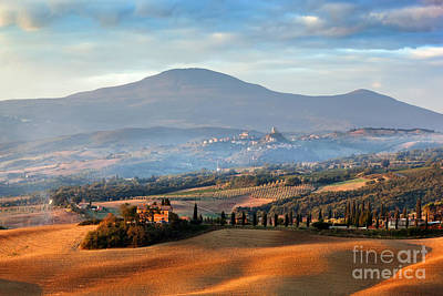 Summer Landscape Photograph - Tuscany Landscape At Sunrise by Michal Bednarek