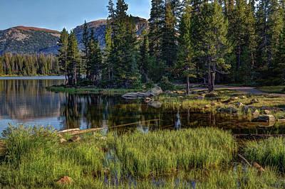 Mountain Reflection Lake Summit Mirror Photograph - Uinta Mountains, Utah by Utah Images