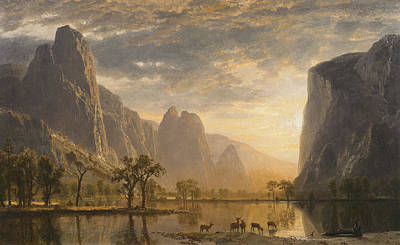 Yosemite Painting - Valley Of The Yosemite by MotionAge Designs