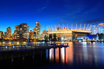 Photograph - Vancouver City Night by Songquan Deng