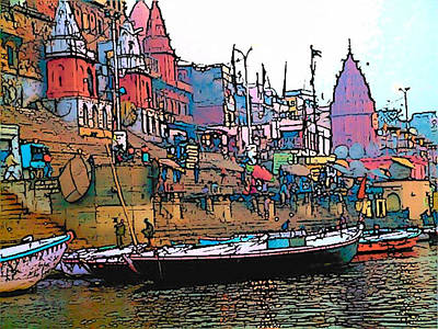 Varanasi Art Print by Lisa Dunn