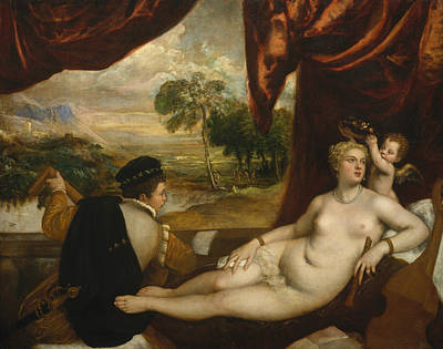 Painting - Venus And The Lute Player by Titian