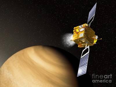 Braking Photograph - Venus Express Mission, Artwork by David Ducros