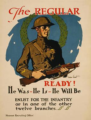 Painting - Vintage Us Army by Vintage Pix