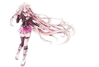 Black Digital Art - Vocaloid by Maye Loeser