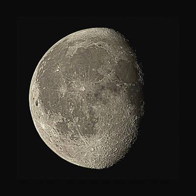 Waning Gibbous Moon Art Print by Eckhard Slawik