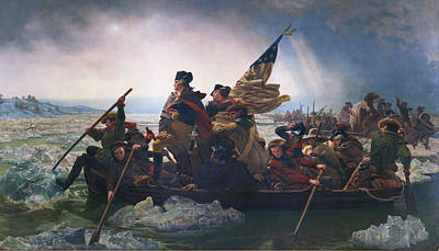 U.s History Painting - Washington Crossing The Delaware by Emanuel Leutze