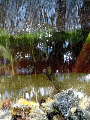 Photograph - Water Fountain Abstract # by Ed Weidman