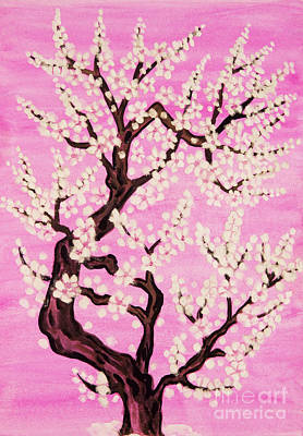 Painting - White Tree In Blossom, Painting by Irina Afonskaya