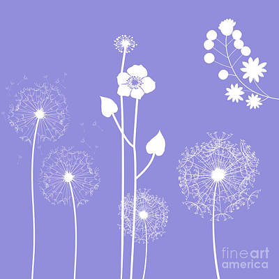 Wild Flowers Print by Celestial Images