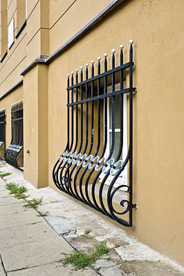 Refurbished Photograph - Window Bars by Tom Gowanlock
