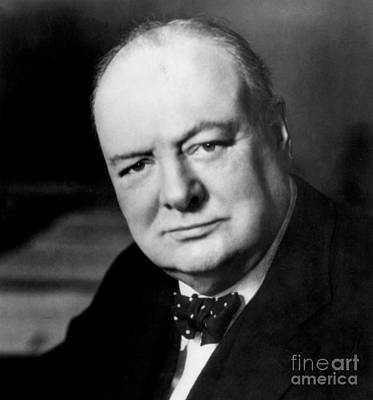 Winston Churchill Print by English School