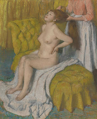 Pastel - Woman Having Her Hair Combed by Treasury Classics Art