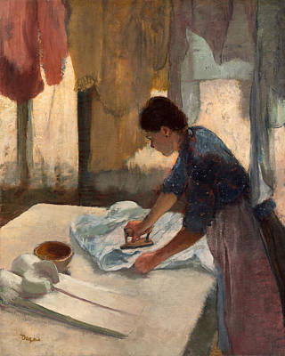 Cloth Painting - Woman Ironing by Edgar Degas