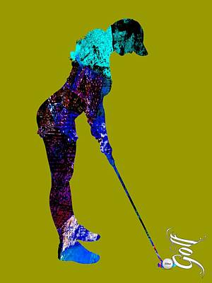 Womens Golf Collection Art Print by Marvin Blaine