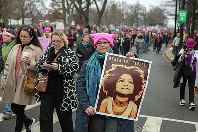 Photograph - Women's March, Washington Dc, 2016 by Kathleen McGinley