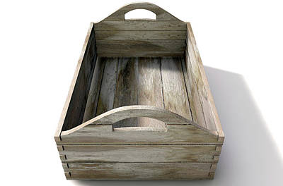 Packaging Digital Art - Wooden Carry Crate by Allan Swart